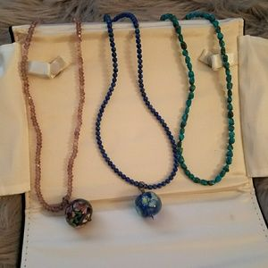 3 16 inch stone necklaces